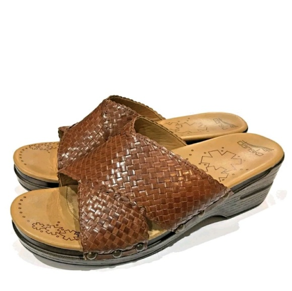 220a695755cf Dansko Shoes - 👡Dansko Mila woven brown leather slides👡